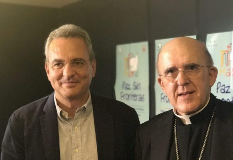 Carlos Osoro, con el presidente de Sant Egidio
