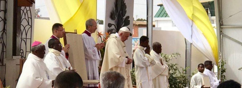 El Papa Francisco celebra la eucaristía dominical en Madagascar