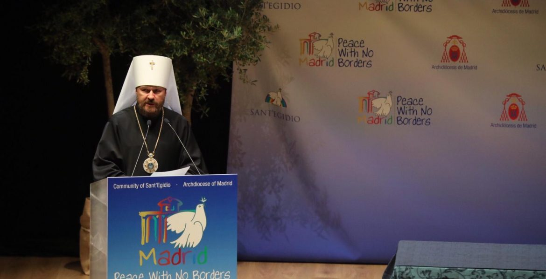El metropolita Hilarión, en el Encuentro por la Paz