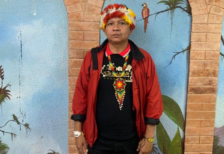 José Gregorio Díaz Mirabal, coordinador de las Organizaciones Indígenas de la Cuenca Amazónica (COICA)