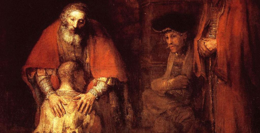 Detalle de 'El regreso del hijo pródigo', de Rembrandt