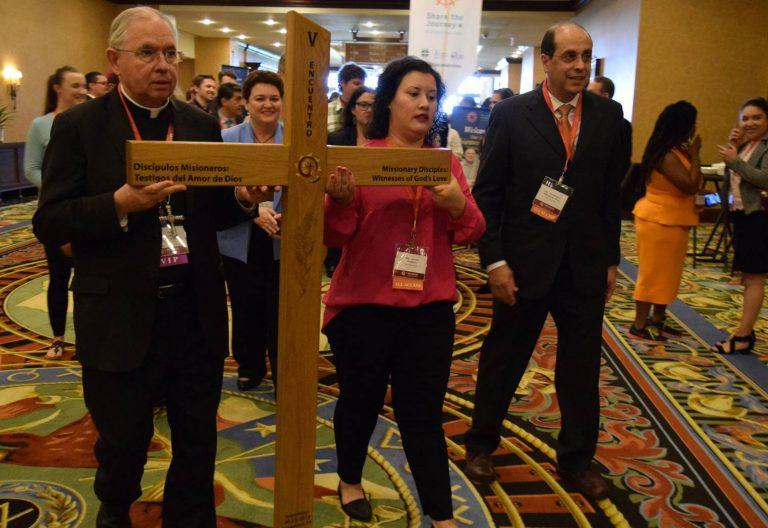 José H. Gómez, arzobispo de Los Ángeles, durante la apertura del V Encuentro Nacional de la Pastoral Latina