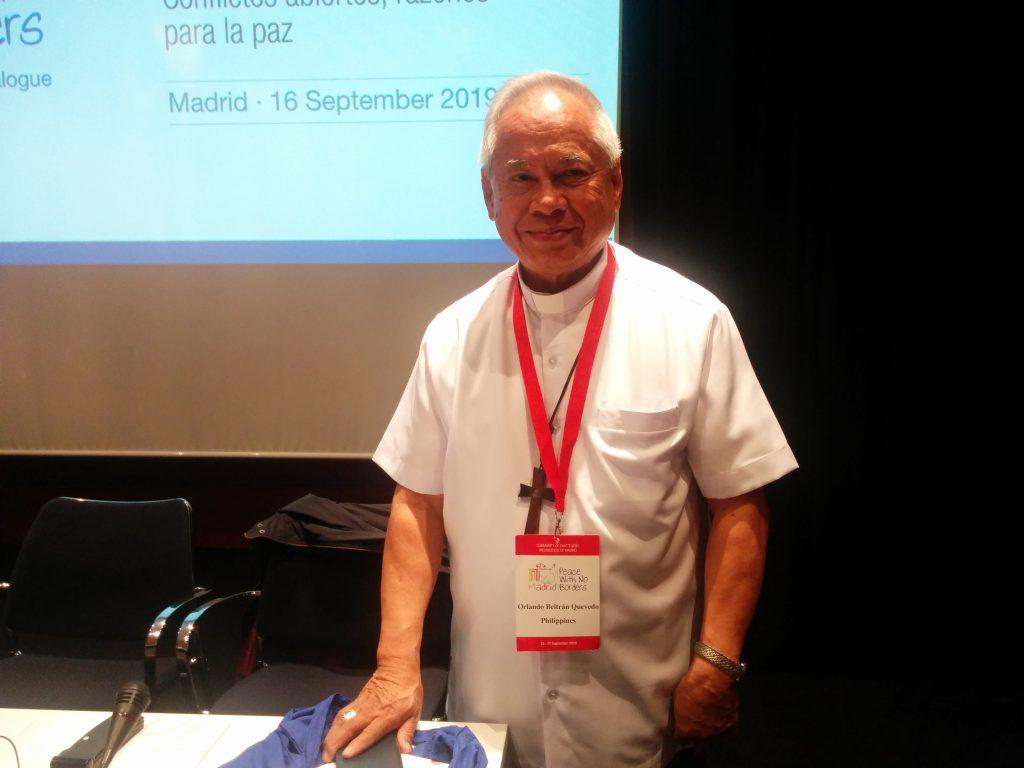 El cardenal filipino Orlando Beltrán Quevedo, arzobispo emérito de Cotabato