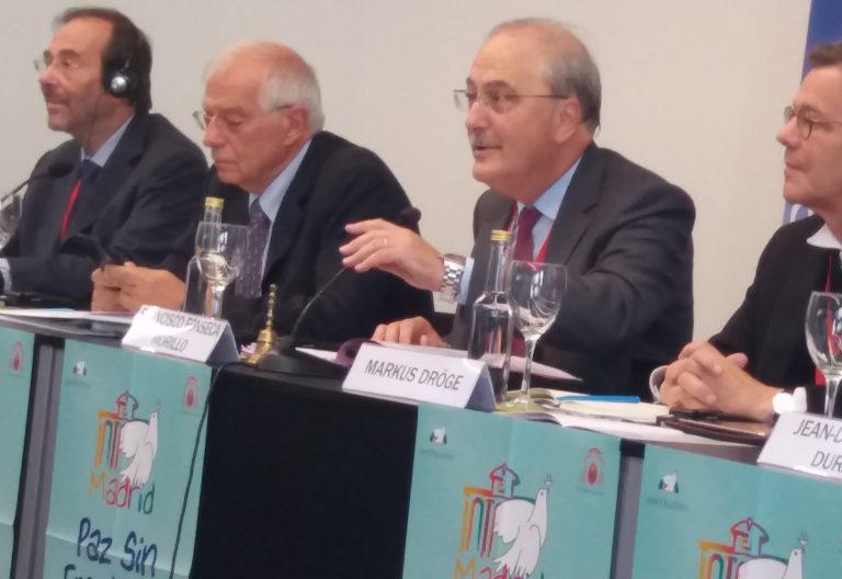 jospep borrell durante el encuentro paz san egidio madrid septiembre 2019