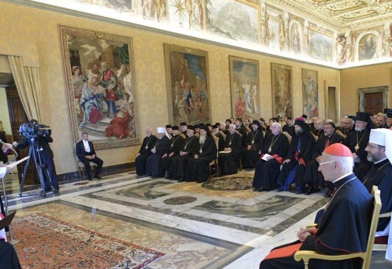 francisco-con-obispos-catolicos-orientales-europa audiencia 14 septiembre 2019