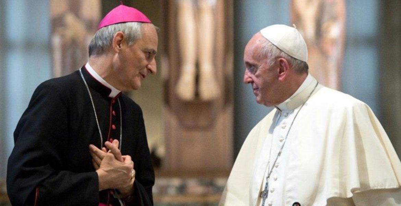 Matteo Zuppi con el papa Francisco