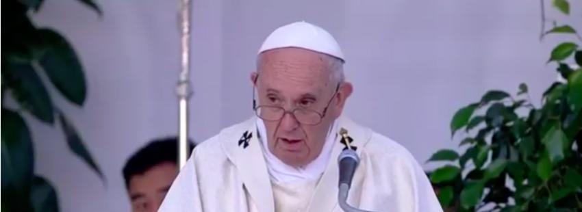 El papa Francisco, en Albano