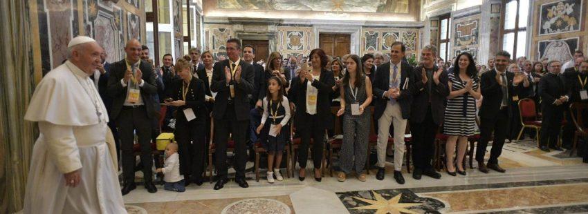 El Papa con asociaciones de Nueva Evangelización