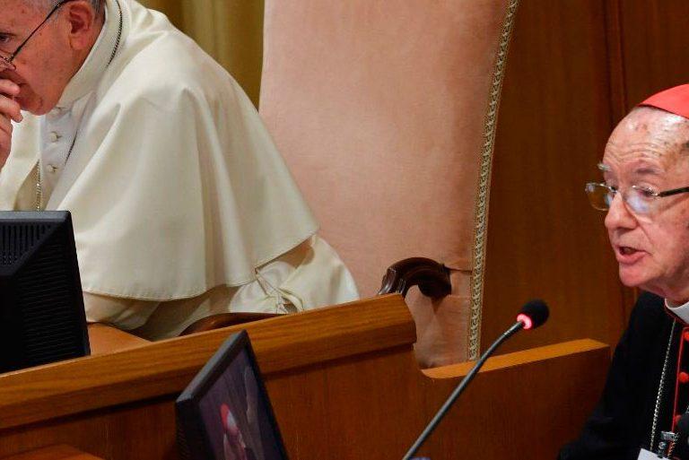 El cardenal Claudio Hummes, durante su intervención en la apertura del Sínodo sobre la Amazonía