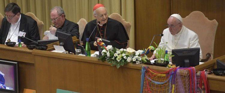 El papa Francisco en el Sínodo para la Amazonía