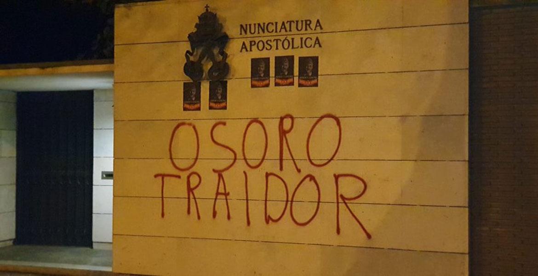 pintadas-osoro-nunciatura-exhumacion-franco-ultracatolicos octubre 2019