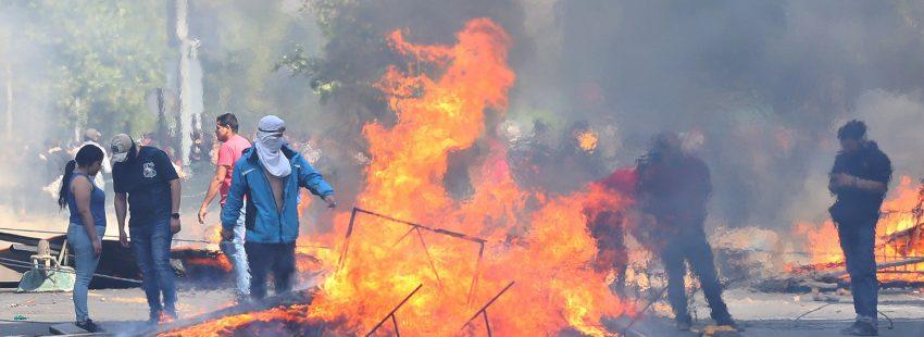 Manifestaciones en Santiago por el incremento del precio del billete del metro