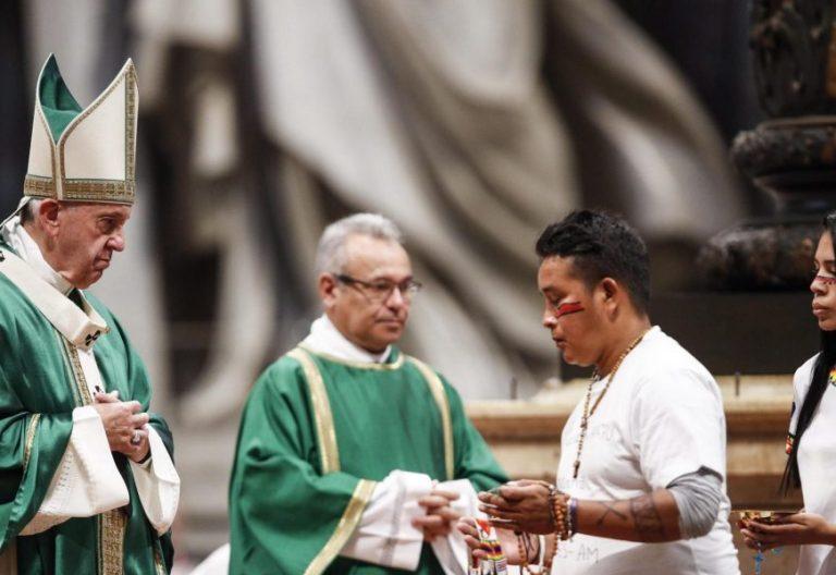 El Papa Francisco, en la clausura del Sínodo de la Amazonía