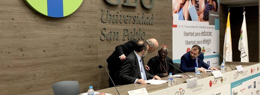 El cardenal Robert Sarah, en la Universidad CEU San Pablo
