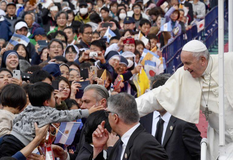 Papa en Japón, en Nagasaki