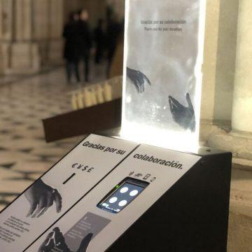 Cepillo digital instalado en la catedral de La Almudena, en Madrid