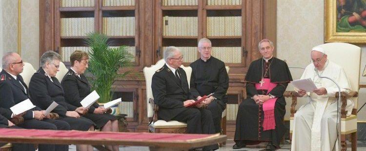 Ejército de Salvación en audiencia con el papa Francisco