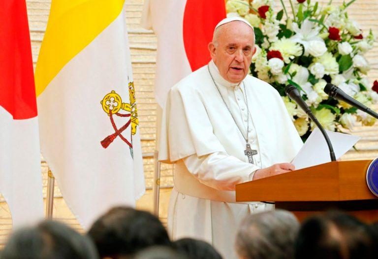El papa Francisco, en su discurso a las autoridades de Japón