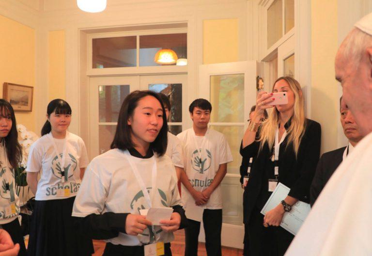 El papa Francisco inaugura la sede de Scholas Occurrentes en Japón