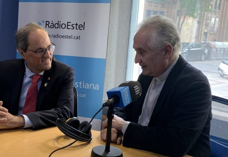 El presidente de la Generalitat, Quim Torra, en una entrevista en Radio Estel