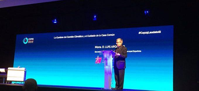 Luis Argüello, secretario general de la Conferencia Episcopal, en el foro sobre la COP25 de la Fundación Pablo VI.