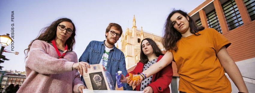 Jóvenes católicos, Cumbre Clima, reciclaje
