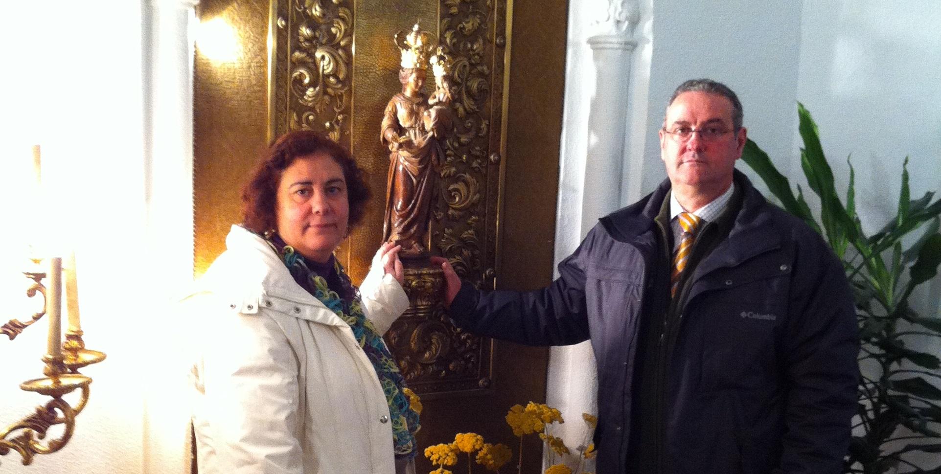 el diacono permanente de albacete javier sanchez con su esposa maria gloria muñoz