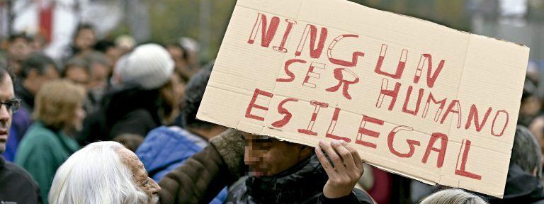 Manifestación a favor de menores migrantes -MENA- en Madrid