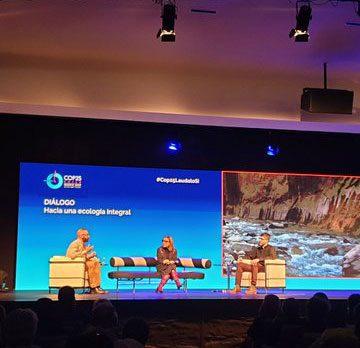 Eduardo Agosta y Jaime Tatay en el foro sobre cambio climático de la Fundación Pablo Vi