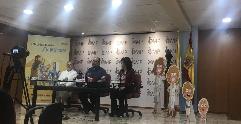 Expedita Pérez, José María Calderón y Monserrat Prada, en la presentación de la campaña de la Infancia Misionera