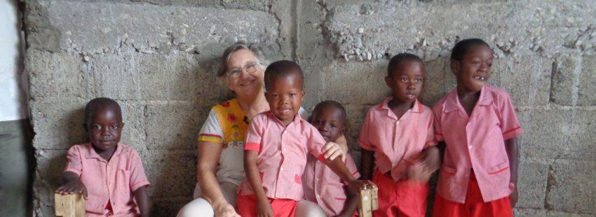 Matilde Moreno, misionera en Haití