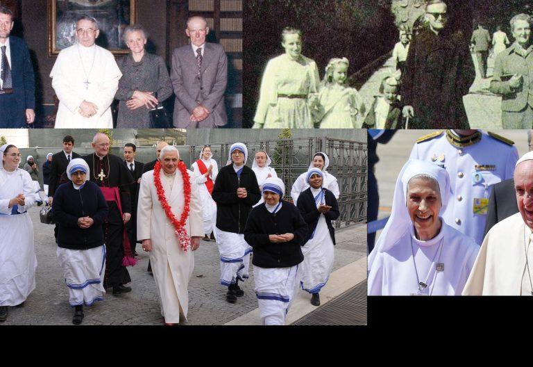 Juan Pablo I, Juan Pablo II, Benedicto XVI, Francisco, mujeres
