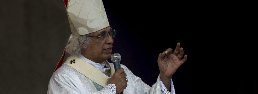 El cardenal Leopoldo Brenes, arzobispo de Managua