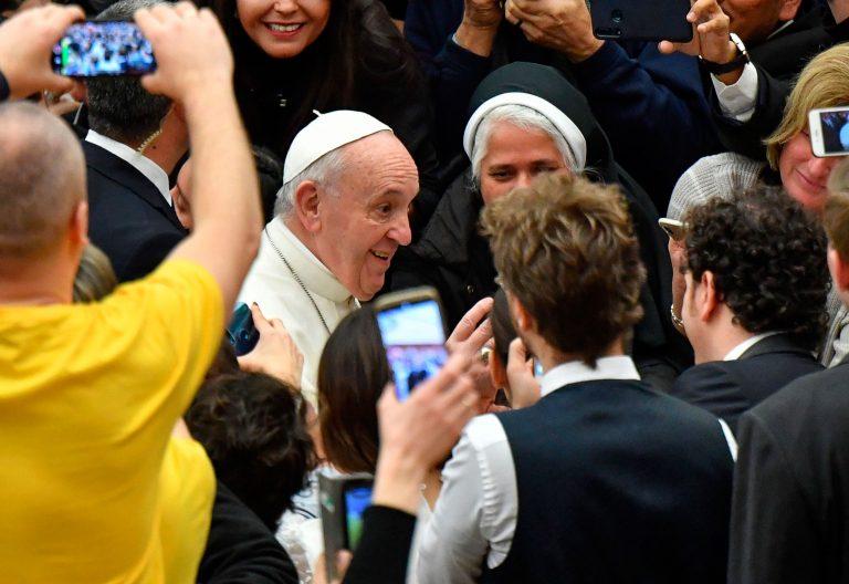 El papa Francisco, en la audiencia general