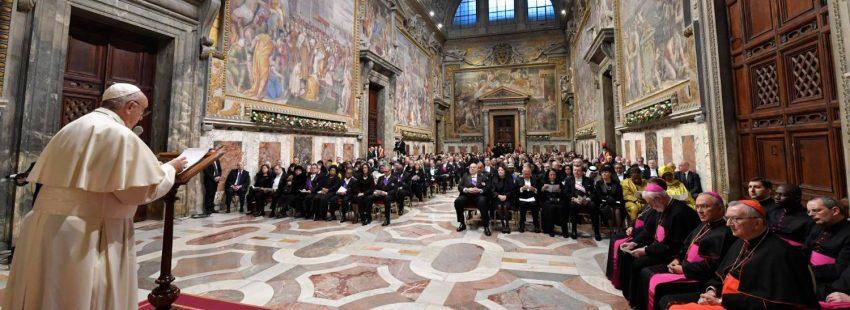 El papa Francisco, en su discurso al Cuerpo Diplomático