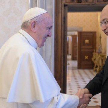 El papa Francisco, con el presidente de Irak