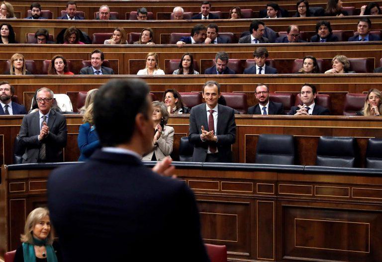Pedro Sánchez, en el discurso de investidura