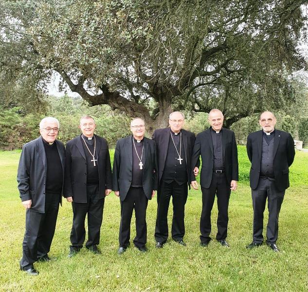 Los obispos extremeños y sus vicarios, en la reunión del pasado miércoles