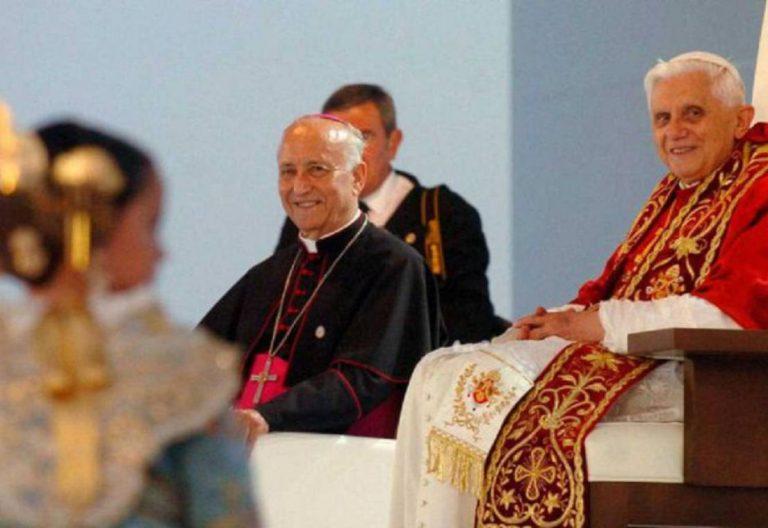 Benedicto XVI, en su visita a Valencia en 2006