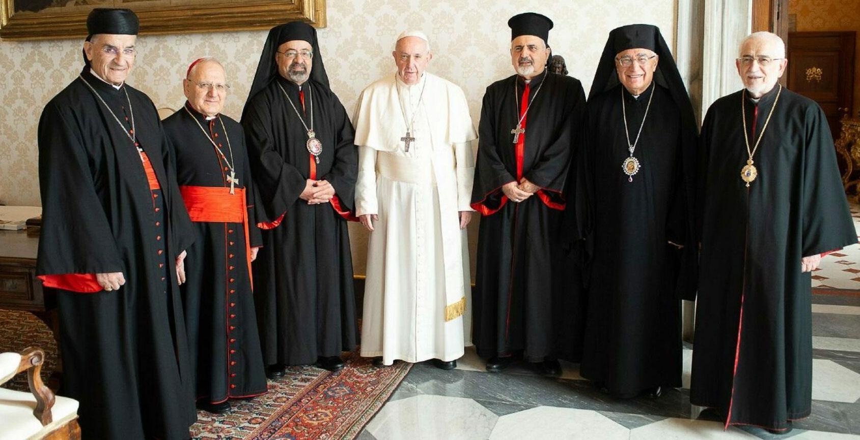 Audiencia con los patriarcas católicos de Oriente