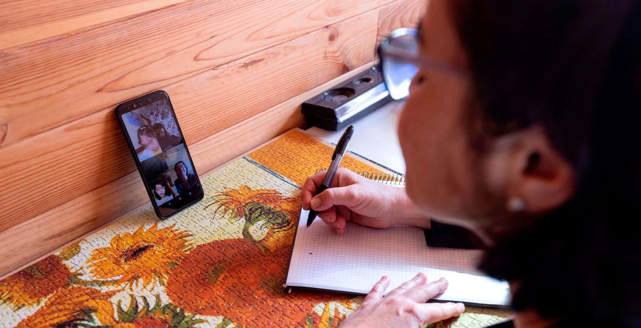 converaciones con móvil, videollamada