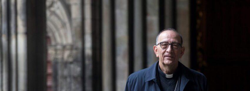 El arzobispo de Barcelona y presidente de la Conferencia Episcopal Española, el cardenal Juan José Omella. EFE