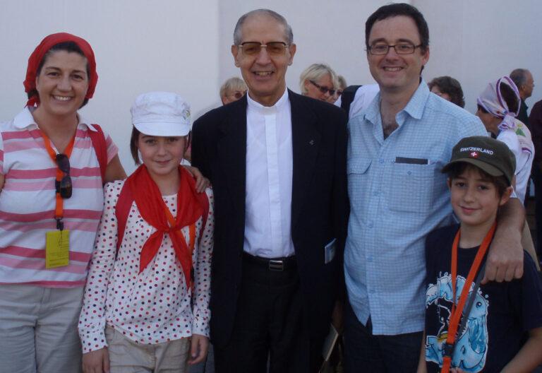 Fernando Vidal con Adolfo Nicolás