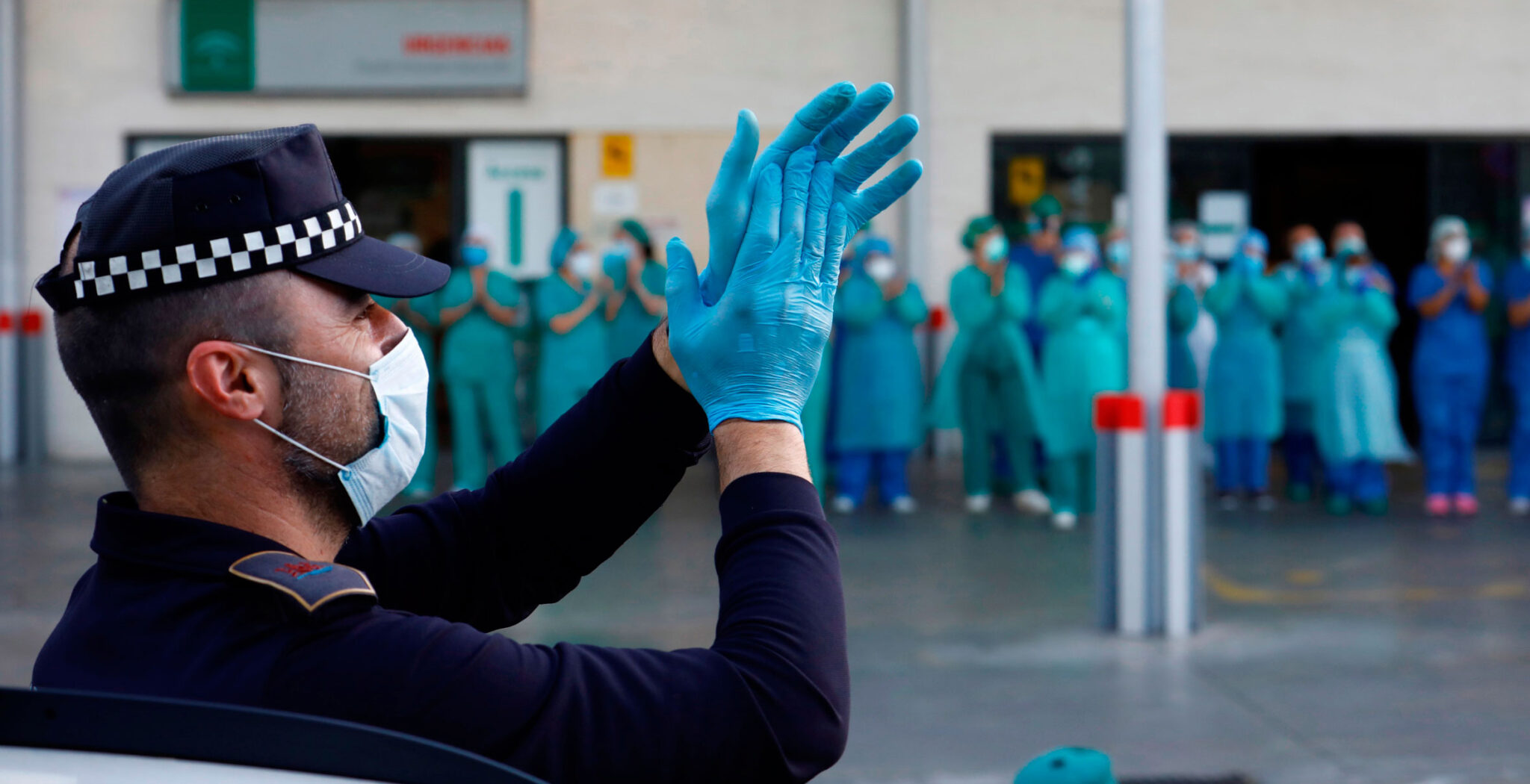 aplausos solidarios a los sanitarios, coronavirus