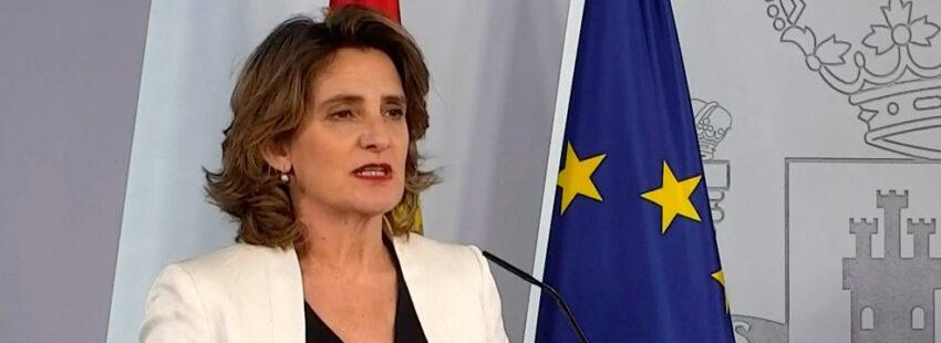 Teresa Ribera, ministra para la Transición Ecológica y el Reto Demográfico,