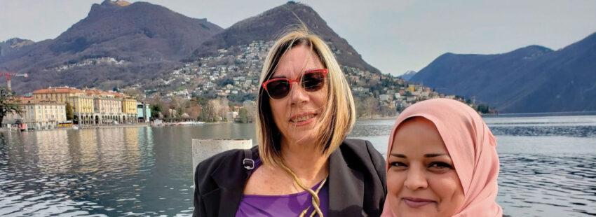 Layla Alshekh con Ora Lafer Mintz, miembros de Parents' Circle