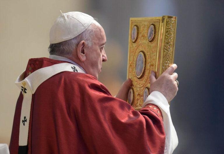 El papa Francisco en la misa de la solemnidad de San Pedro y San Pablo