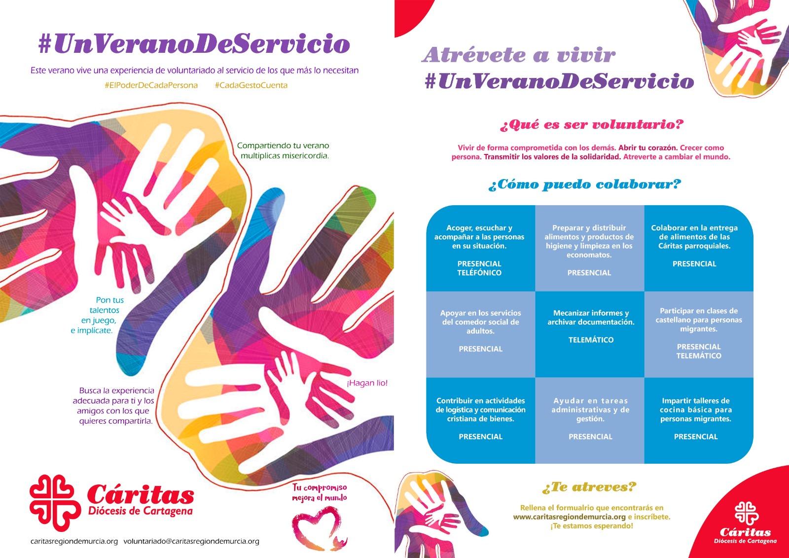 Cáritas Murcia busca voluntarios