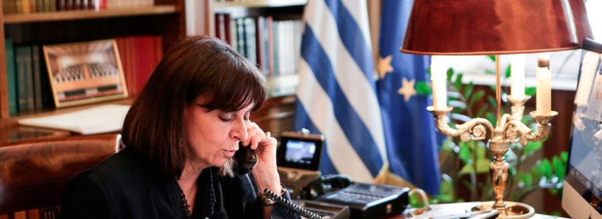 Katerina Sakellaropoulou, presidenta de Grecia