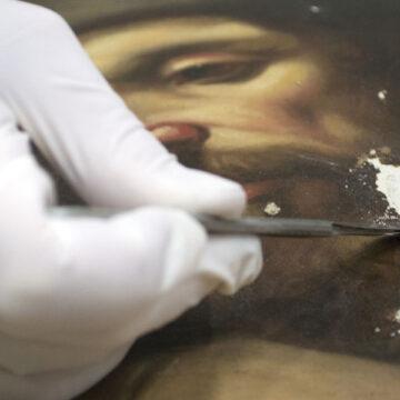 Galería de los Uffizi. Taller de restauración pintura